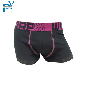 Customized Elastic Band Man Seamless Underwear Black Pink 100% Cotton Cheap Boxer Brief