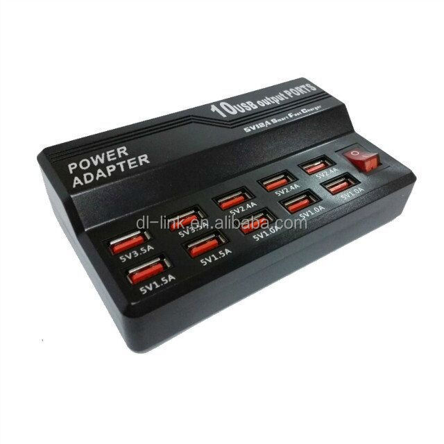 New arrival, and Hot sale 5V 12A Smart Fast Charger 10 Port USB Charger