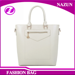 elegant white fancy lady PU tote bags from Chinese factory for wholesale online
