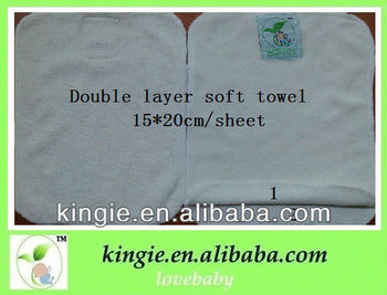 soft bamboo wipe,2 layer, durable, economic