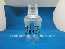 550ml plastic wine cocktail shaker cup
