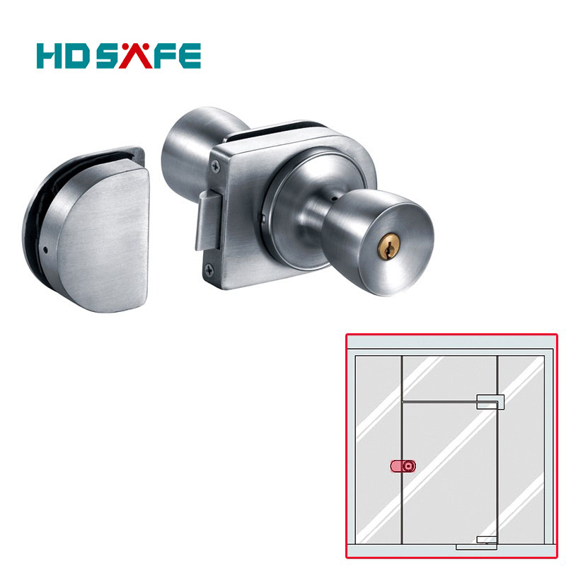 Stainless steel mortice locks with lever for glass door