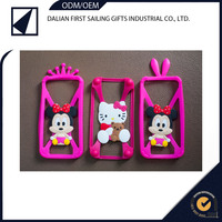 Fashional universal silicone bumper phone case with crown and rabbit ears