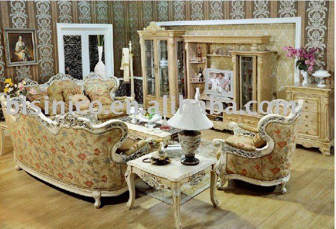 Di lusso in stile country francese mobili soggiorno b49173 mobili antichi pacchetto id prodotto - Mobili stile francese ...