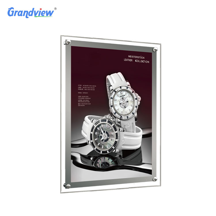 Shopping mall wall hanging Advertising Frameless <strong>LED</strong> <strong>A0</strong> crystal light <strong>boxes</strong>