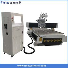 High accuracy FINEWORK auto tool change cnc router For wood