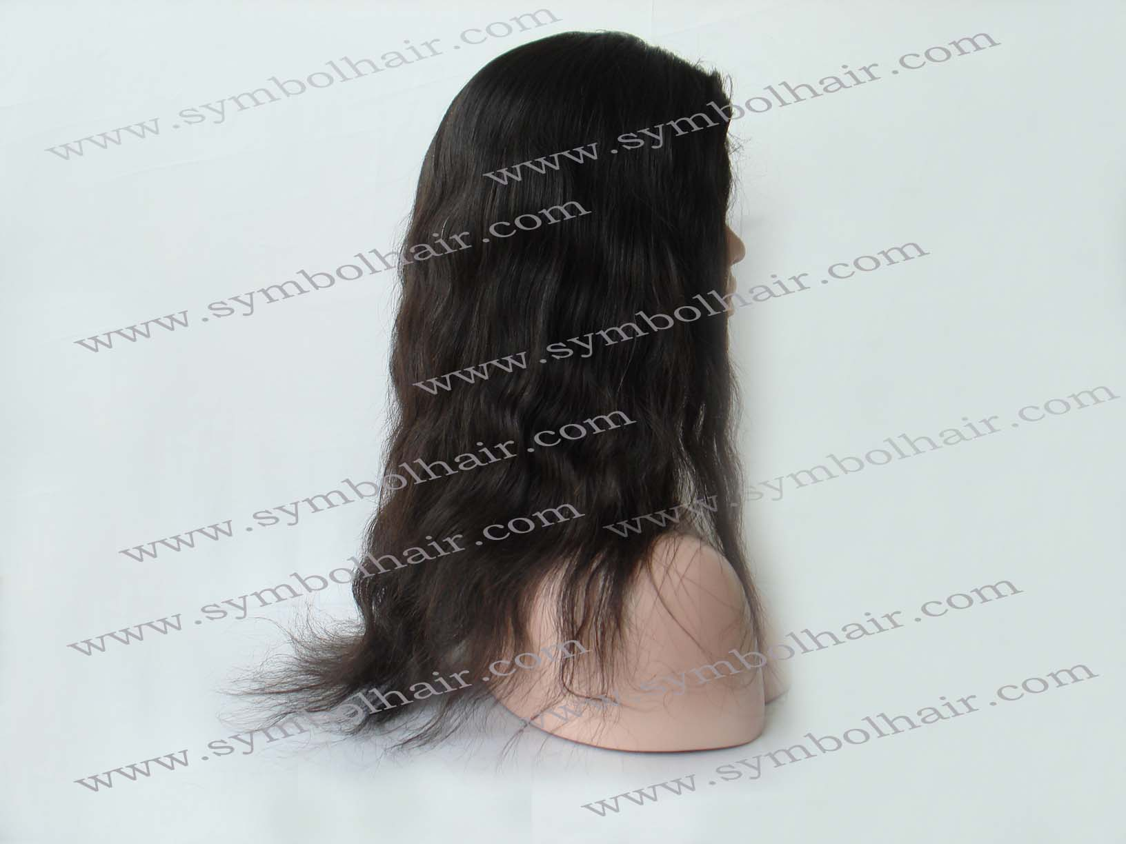 16inch natural color Brazilian virgin full lace wig