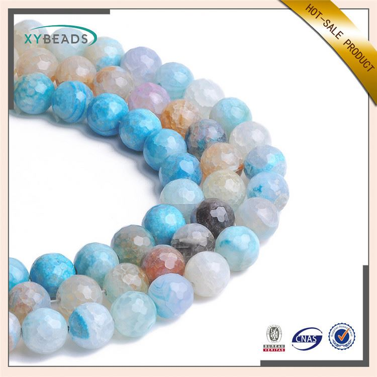 Modern style charming beautiful blue diy agate beads