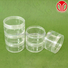 30 gr Stacked plastic beads finding storage cosmetic makeup cream butter jar packaging