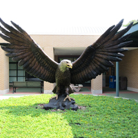 Large Outdoor Metal Casting Bronze Eagle