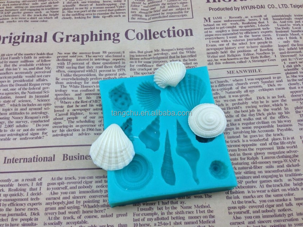 Ocean Shell Sea Theme Shape Silicone Mold Cake Decoration Tools Baking Moulds