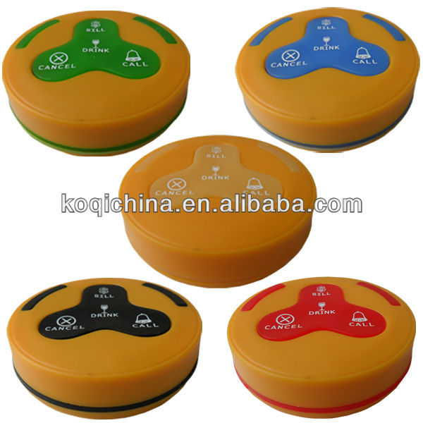 Coloured Press Water Buzzer K-H4 100% waterproof call buttons staff