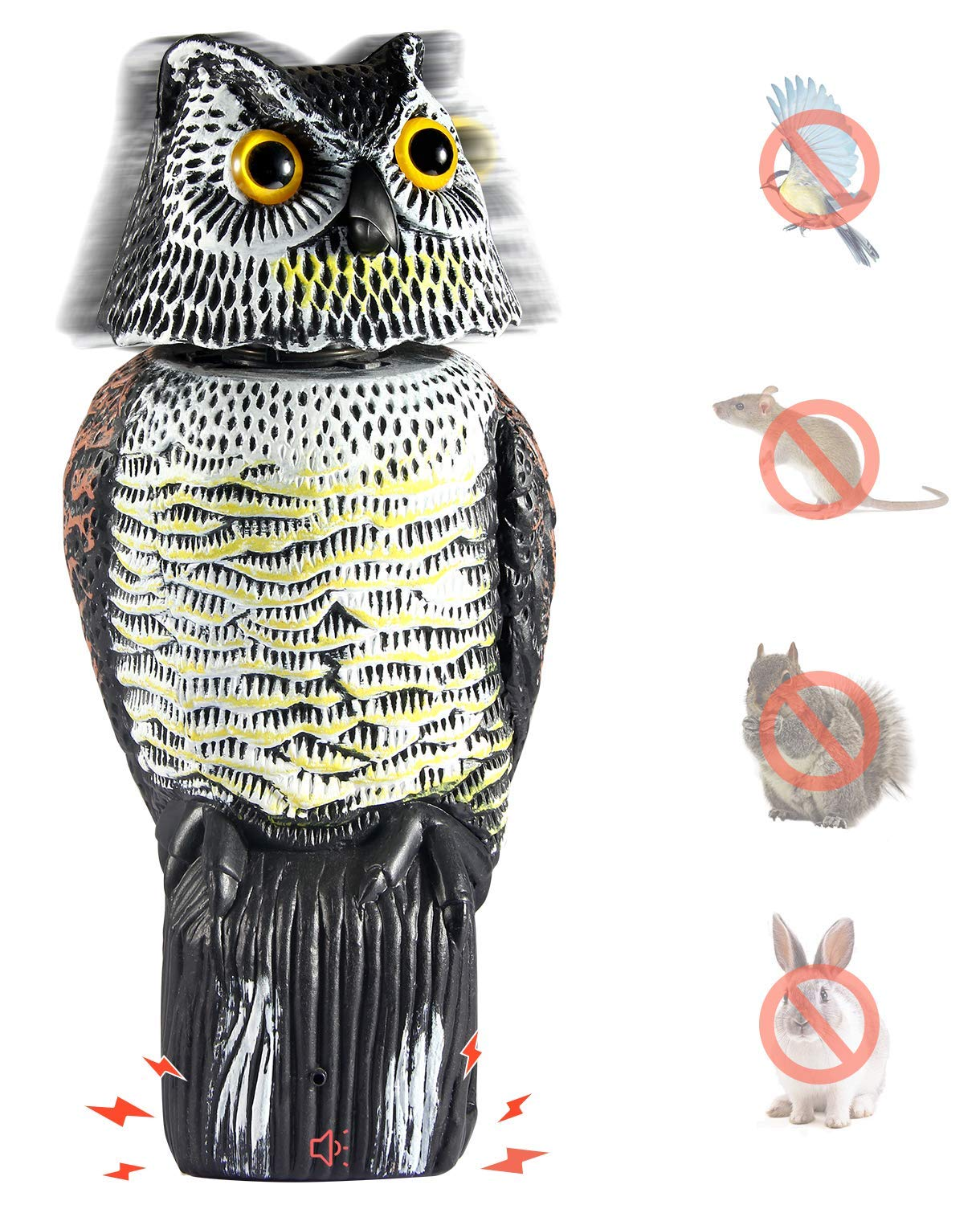 Wholesale  Owl Decoy to Scare Birds Away Scarecrow  Owl with Rotating Head