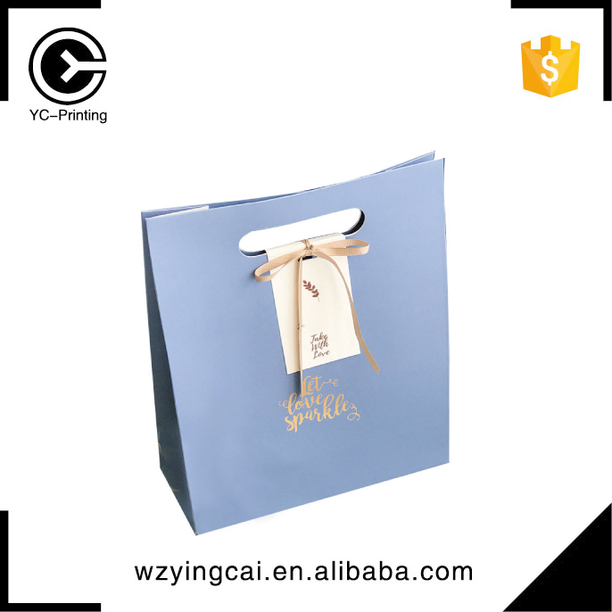 Cheap laminated printing logo candy luxury small fashion customised paper shopping bag