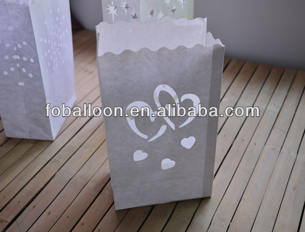 New Design Fireproof Chinese Wedding Decoration Handmade Indoor Illuminating Candle Bag for Wedding Home Party