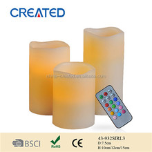 High Quality Wax Flameless Led Candle,Real Wax Led Candle,led paraffin wax candle light,