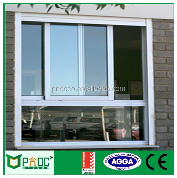 2017 PNOC030806LS Australian standard AS2047 high quanlity aluminium frame sliding glass window