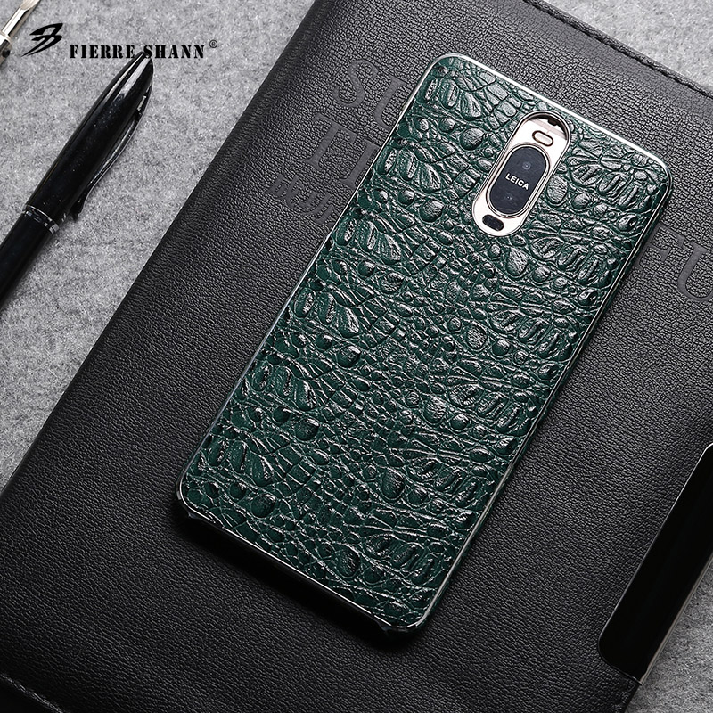 Smart cover cow leather mobile phone leather case for Huawei Mate 9 Pro