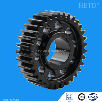 HETD Spur Gear C45 Material 1.5 module spur pinion gear cylindrical gears transmission parts SG5045