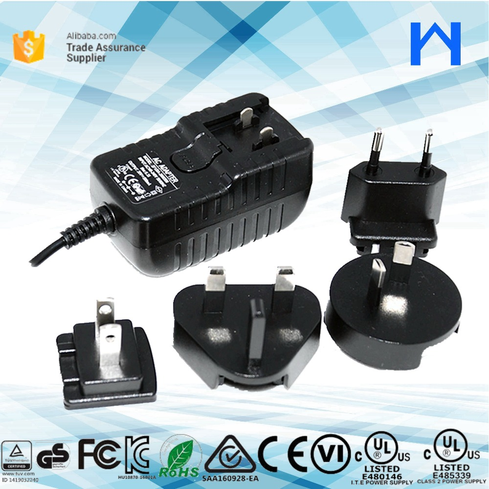 UL 1310 Class 2 Power supply interchangeable ac adapter 5V 1.5A power Adaptor