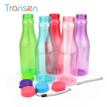 wholesale candy color sport drinkware cola bottle shape plastic flask 350ml BPA Free water bottle