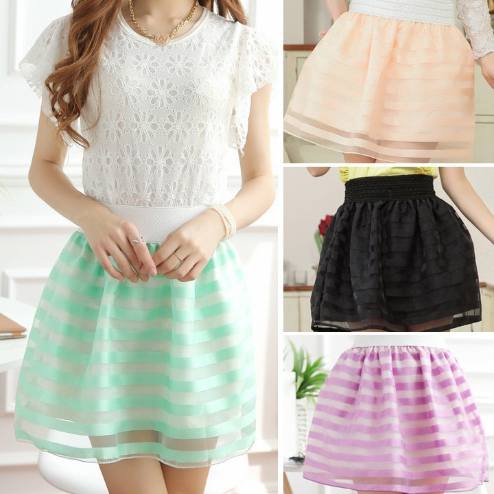 2015 New Charming Summer Casual Chiffon Girls Skirt and Top SV004116