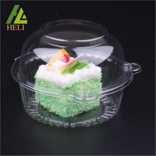 Plastic cake cheesecake circle container with lid