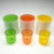 wholesale set 8 exquisite rainbow colored glass candle holder with wood lid