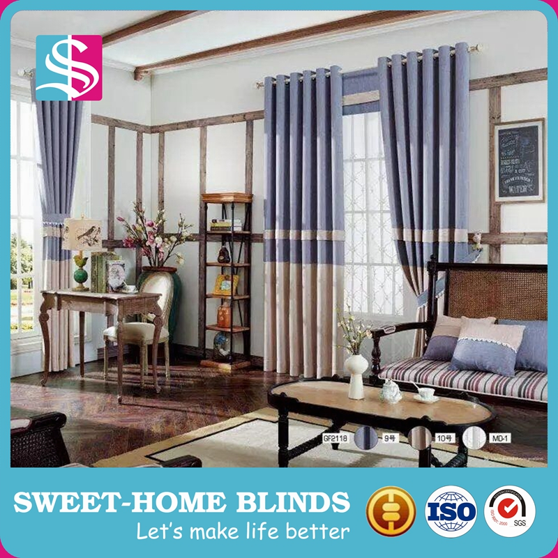 european style fancy living room window curtains made in China