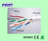 24AWG 4 Pairs 4pr Network Solid Cable UTP Cat 5e Cat5e Factory Price Insulated different color