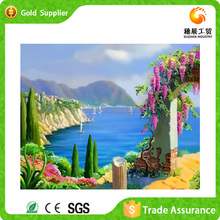 Unique factory supply abstract the Mediterranean scenery diy diamond decorative modren canvas oil painting