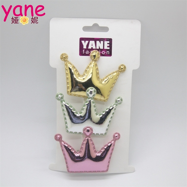 Big crown barrette clips fancy girls hair decorative girls hair clips