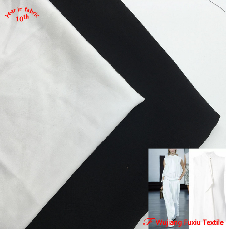 white balck 100%polyester wool peach fabric for abaya