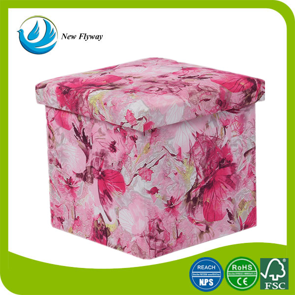 best selling products in usa allover printing 420D polyester multipurpose foldable ottoman
