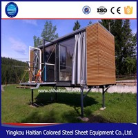 Low cost 20ft prefabricated container house fashionable furniture design house