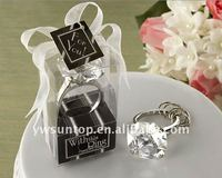 "With This Ring"" Engagement High Quality Acrylic Ring Diamond Keychain Wedding Gifts"