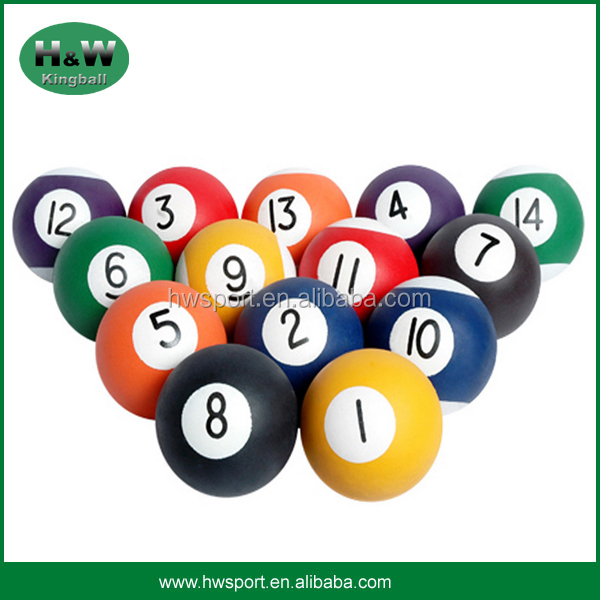 promotional colorful billiards sponge rubber ball