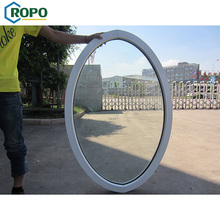 CE certificate large fixed oval tempered glass window