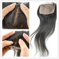 alibaba wholesale 100% virgin human hair skin color base closures vivid black silk base closure