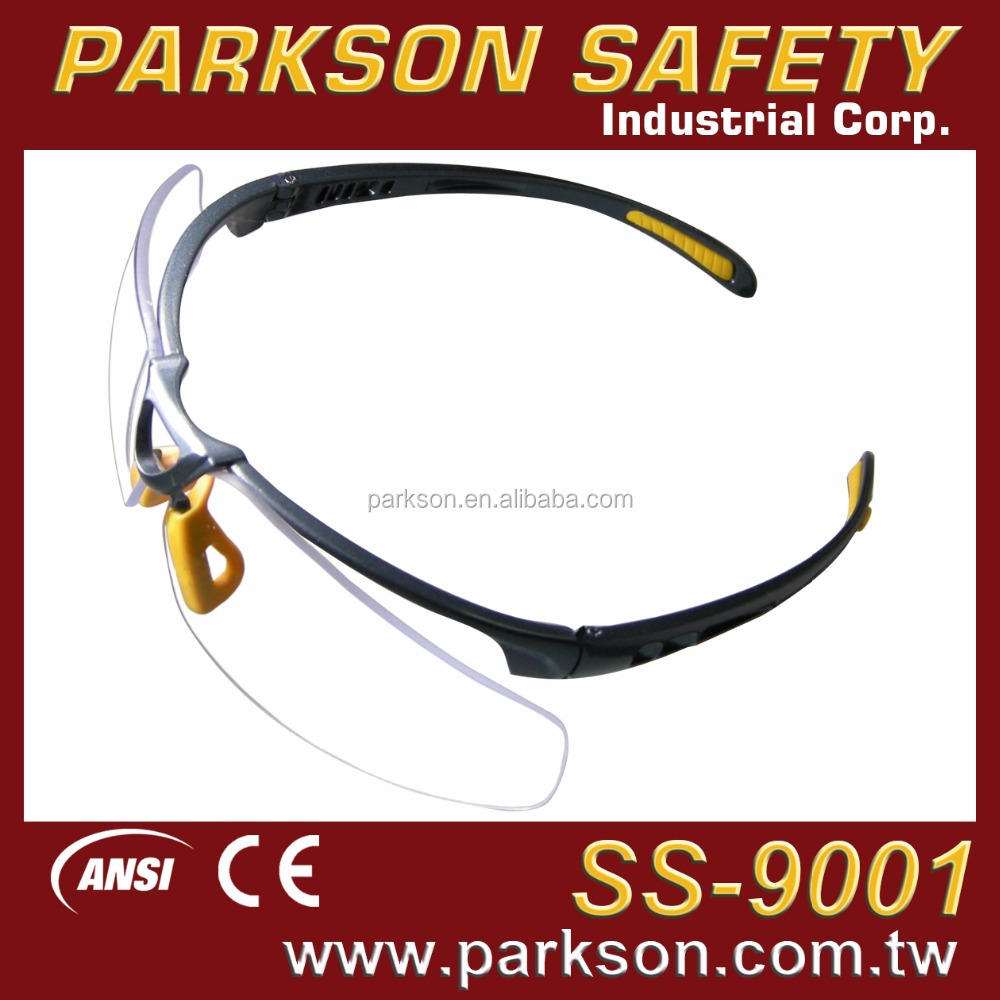PARKSON SAFETY Taiwan Perfect Fit for All Face Shape Safety Glasses ANSI Z87.1 and CE EN166 Standard SS-9001