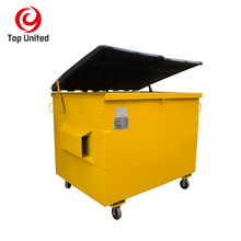 3 cubic meter front load forklift bin gantry dumpster skip bin for garbage recycle in china factory