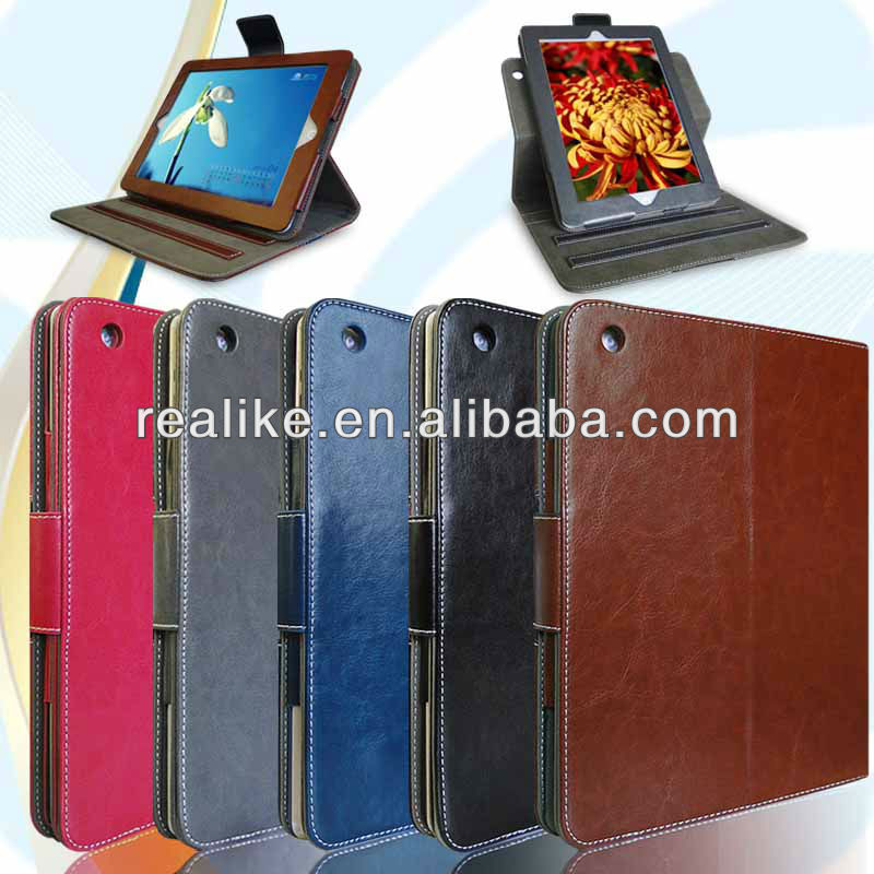 rotating case for ipad air 360 Degree Rotating Stand Cover with Auto Sleep / Wake Feature for iPad Air / iPad 5