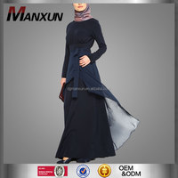 Hotsale black long elegant abaya elegant long sleeve baju kurung islamic maxi dress abaya