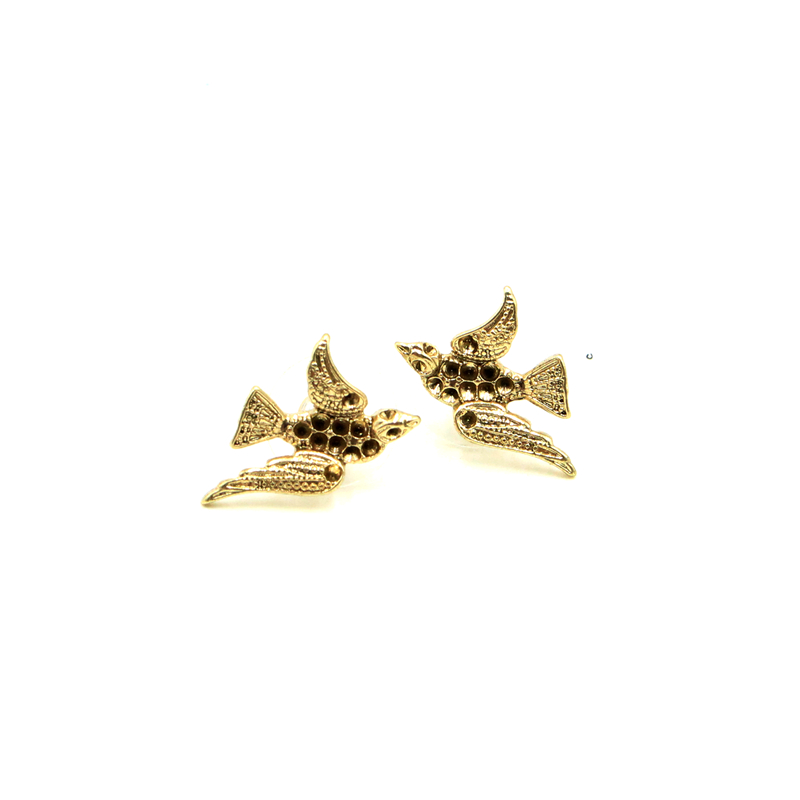 <strong>Fashion</strong> Africa Style Smart Bird Animal Shape Jewelry Gift <strong>Accessories</strong> for Women Gold Stud Earrings