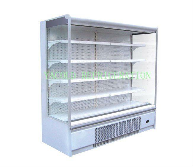 YACOLD front open multideck showcase cooler /display cabinet/air curtain multi deck display showcase