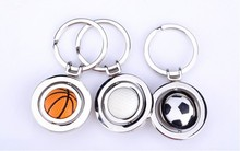 Creative metal gift zinc alloy football/ basketball /golfball key chain/key ring for gift