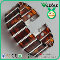 wollet latest design vogue jewellery fashion men bangle with six magnet