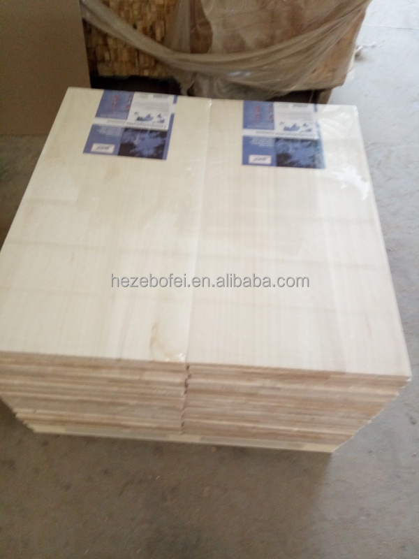 Factory Direct Supply Edge Glued Finger Jointed Paulownia Solid Wood Boards , paulownia scaffolding