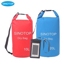 fashion wholesale compress ultralight Outdoor PVC Waterproof Dry Bag Rafting Bag with mobile phone case