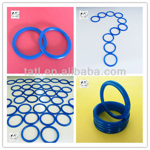 Blue PU Ring, 80 Shore A, 42-52-4mm